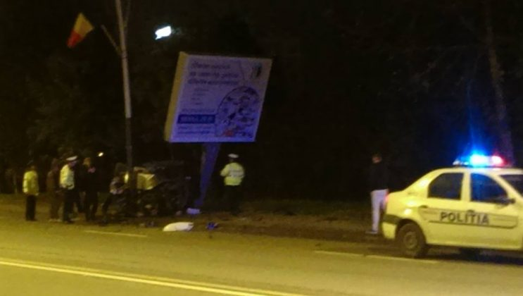 Accident spectaculos azi noapte in Bacau