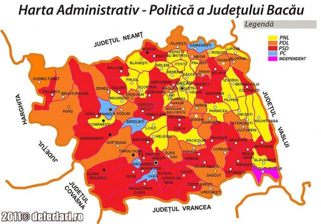 Harta politica dupa alegerile din 2008
