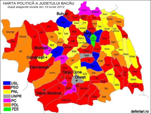 Harta politica dupa alegerile din 2012